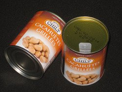 Boîte de Cacahuètes natures